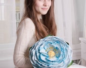 Large Blue Rose Flower Decor Wedding Floral Bouquet artificial flower house decor home decoration mother mom gifts ideas