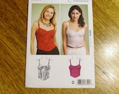 SEXY Bustier w/ Paneled Cups - Cute Burlesque Tank Top - All Sizes (Xs - Xl) - UNCUT Sewing Pattern Kwik Sew 3850