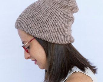 Slouchy beanie, Winter Beanie, knit hat, winter hat, slouchy hat, knit beanie, slouchy knit hat, slouchy beanie  (The Beanie in Mushrrom)