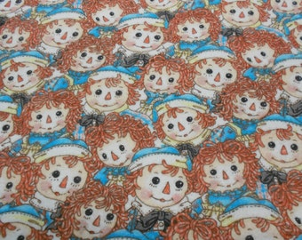 Raggedy Ann and Andy on Flannel Yardage