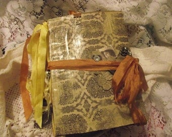 Junk Journal  Coffee Stain Pages Lots Of Pockets And Inserts  Handmade