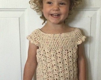 Girls Crochet Top Pattern: 'Mary's Shell', Spring/Summer Fashion