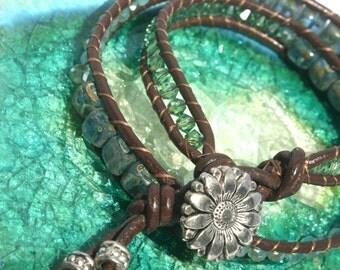 Double Wrap Chan Luu style Bracelet