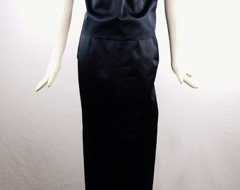 Vintage MAISON MARTIN MARGIELA 2Pc Plunging Red Carpet Cocktail Top and Maxi Destructed Skirt Size Small