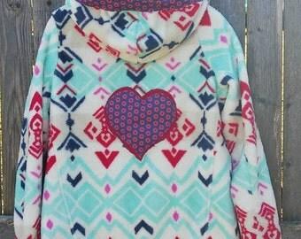 WOMEN'S LARGE Hoodie Get Down Upcycled, Phunky Fishman Phish Sweatshirt, ooak, Free gift wrap option, ready to ship