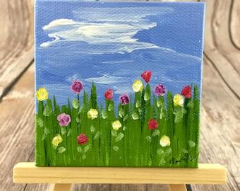 Field of Flowers Mini Canvas