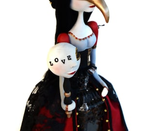 Mask Art Doll - Venice Mask - Venice Inspired - Plague Mask
