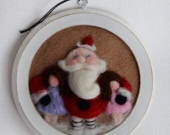 Custom Ornament - Santa Ornament - Felted Santa - Christmas Tree Decor