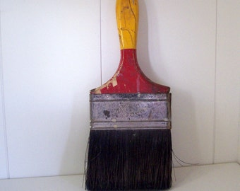Vintage Painted Paint Brush