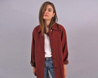 Vintage 90s Linen Jacket, Oversized Soft Jacket, Cotton Jacket, Boho Jacket, Slouch Jacket Δ fits sizes: xs / sm / md