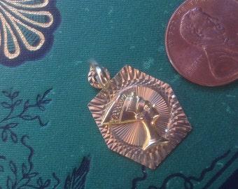 14 K Gold Egyptian pendant
