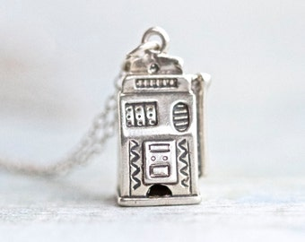 Cash Register Necklace - Sterling Silver Miniature on Chain