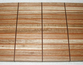 Flecked Oak, Cherry, & Black Walnut Designer Butcher Block Cutting Board