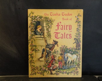 1969 The Tasha Tudor Book of Fairy Tales- Illustrated Book-Classic Fairy Tales
