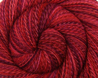 Handspun Yarn - INFERNO - Handpainted Rambouillet wool, 2 ply Lace weight, 678 yards