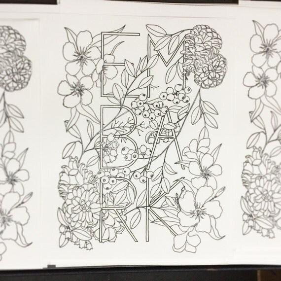 botanical inklings watercolor coloring book - Watercolor Coloring Book