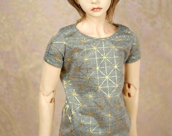 Super Gem SD17 Grey And Gold Geometric T Shirt For SD BJD Boys