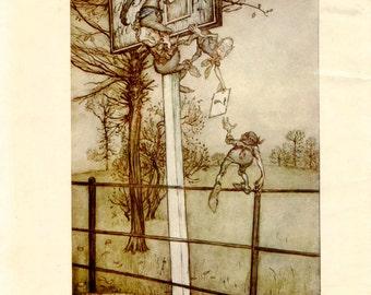Vintage Print Peter Pan by Arthur Rackham Tricky Fairies