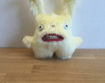 Rabbit - Handmade and OOAK - Uncanny Creature /Ready to ship/ Quirky Uncanny Scary Creepy Cute