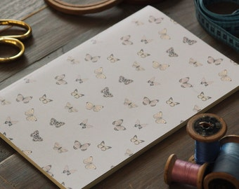 "Illustrated NOTEBOOK ""Butterflies"" ///  plain notebook /// size to choose /// gift for her /// notebooks"