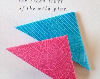 Origami Page Corner Bookmarks-Watermelon & Aqua