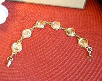 Cats & Dogs vintage inspired domed silver bracelet