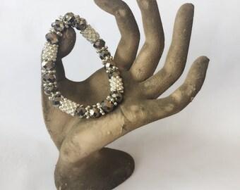 Silver Beaded Bracelet Spellbound Custom Blessing Bracelet By Dovemacob