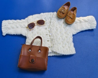 AG Doll Cardigan, Loafers, Bag & Sunglasses 4 Pc. Set