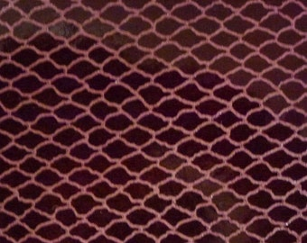 "Leather 8""x10"" Patent FISH NET Burgundy printed Cowhide 3-3.5 oz / 1.2-1.4 mm - PeggySueAlso TRIAL"