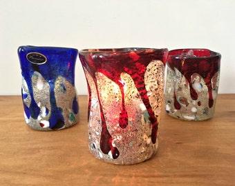 Murano Glass Votive Holder Freeform Vase Abstract Modern