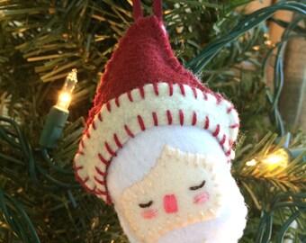 Santa Felt Plushie Ornament
