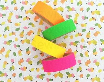 SALE Washi Tape Set: Neon