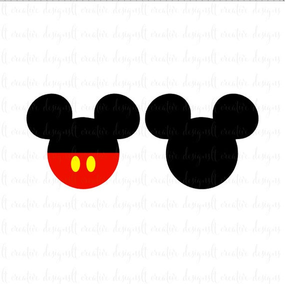 Mickey Mouse SVG, Mickey Mouse Head SVG, Mickey Mouse Ears SVG, Disney Svg, Silhouette, Cricut