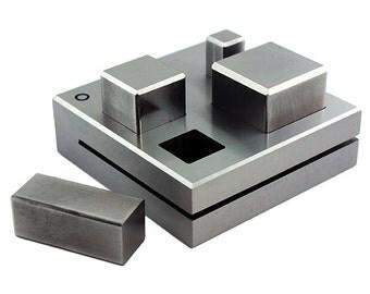 Jumbo Disc Cutter Square Shape Set of 4 - Make Pendants Earrings - Jewelry Making Tool