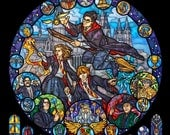 Rose Window - Harry Potter Stained Glass Illustration