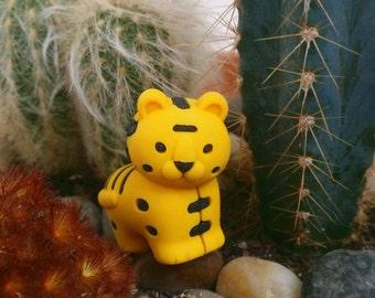 Yellow Tiger Novelty Eraser