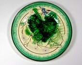 Antique Majolica Fern Plate, English Majolica Leaf Plate