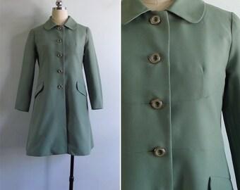 Vintage 70's 'Grass Is Greener' Mod Summer Coat Jacket XS or S
