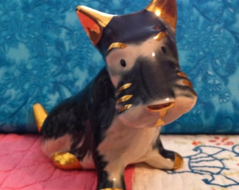 Scottie Dog, 1950's China Figurine, Vintage Collectible