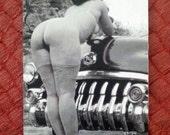 MATURE... Chrome Bumber... 1950's Vintage Erotic Postcard... Vintage Nude Photo