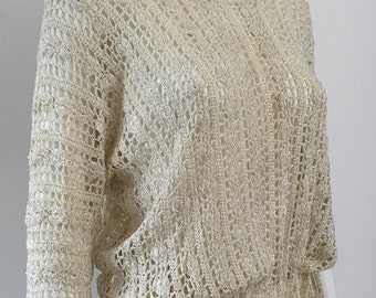 1920's Cream Crochet Jumper