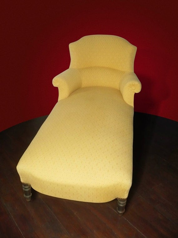 Items similar to m ridienne xix me nap iii regency - Chaise longue fauteuil ...