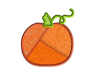 Patchwork Pumpkin Applique Design for Machine Embroidery-INSTANT DOWNLOAD