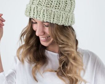 Cat Wool Beanie, Natural Dyed Organic Hat