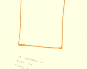 "original ""a portrait of what i've forgotten"" illustration"