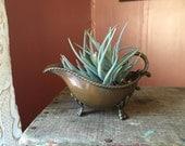 Vintage Copper Succulent Planter/ Air Plant Planter/ Gravy Boat/ Mini Bath Tub