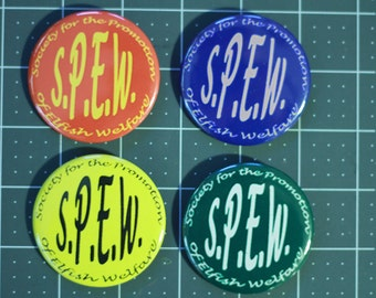 S.P.E.W. Membership Button in House Colors - Hermione Cosplay