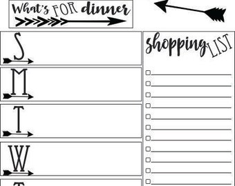Editable Weekly Meal Planner, Instant download