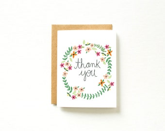 Thank You Cards Set, Thank You Cards Bulk, appreciation card, Set of Cards, Pack of Cards, Watercolor Cards, Thank you Card, Floral Card