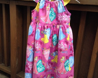 3T Disney Princess Peasant Dress with Flutter Sleeves, Size 3T, Ready to Ship, Disney, Princess, Birthday